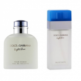 2'li Parfüm Set: Dolce Gabbana Light Blue Erkek+Dolce Gabbana Light Blue Bayan