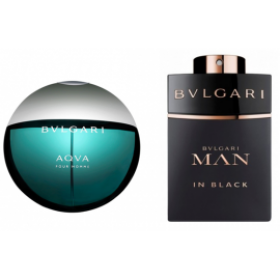 2'li parfüm set:Bvlgari Aqva Edt+Bvlgari Man İn Black